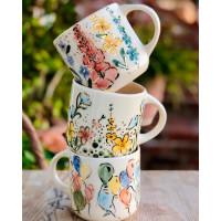 Gold Flower Mug - 220321-01