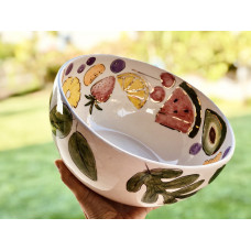 Leaf / Fruit Patterned Bowl - KS-19KSTRP012