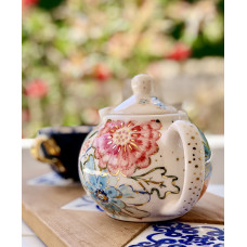 Teapot With Flower Pattern - 07062021-1