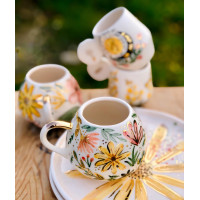 Gold Flower Tea Cup - FN210313-1-1