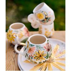 Gold Flower Tea Cup - FN210313-1-1