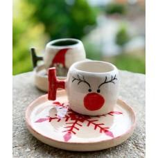 Deer Patterned Coffee Cup - FN-19FNYLB018