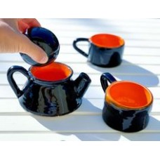 Black Orange Coloured Tea Cup - FN-19FNRNK035