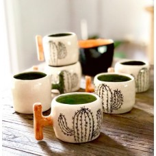 Cactus Patterned Tea Cup - FN-19FNTRP047