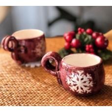 Snowflake Patterned Tea Cup - FN-19FNYLB009