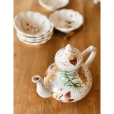 Teapot With Fall Pattern - 041021-2