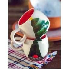 Gnome/Xmas Tree Patterned Tea Cup - FN-19FNYLB096