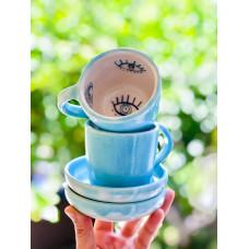 Evil Eye Turkish Coffee Cup - FN-20FNRNK144
