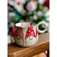 Gnome Patterned Tea Cup - FN-19FNYLB095