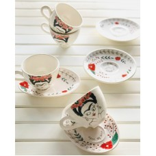 Frida Patterned Tea Cup  - FN-19FNPRT019