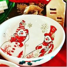 Snowman Patterned Bowl - KS-19KYLB002