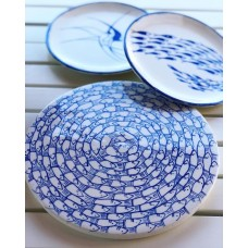 Fish Patterned Service Plate - SR-19SRMRN005