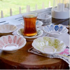 Leaf Series Tea Coaster Set - CT-19CTTRP008