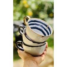 Gold Stripe Patterned Mug - FN-20FNRNK126
