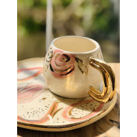 Gold Double Handle Mug - FN-20FNRNK129