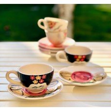 Frida Patterned Tea Cup  - FN-19FNPRT062