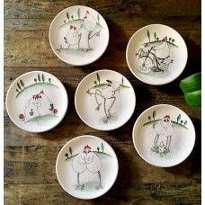 Rooster Patterned Plate Set - TB-19TBHYV004