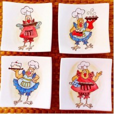 Rooster Patterned Plate Set - TB-19TBHYV050