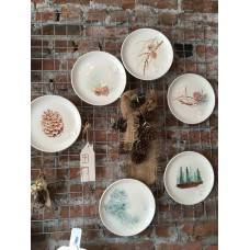 Pinecone Patterned Plate Set - TB-19TBSNB046